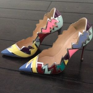 Louboutin jagged edge multi color pigalle